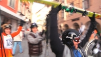 Urban Ski Flash Mob Graz