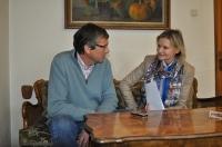 Niki Pelzmann im Gespräch mit Hedi Grager (Foto Reinhard Sudy)