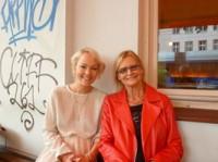 Die Modebloggerin Kathrin Fricke und Hedi Grager (Foto Sudy) (Kopie)