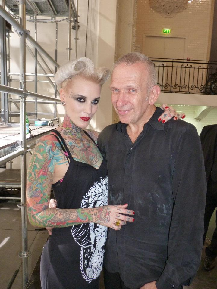 Lexy mit Jean Paul Gaultier