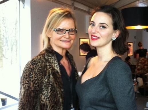 Hedi Grager im Interview mit Lena Hoschek auf der Berliner Fashionweek 2014