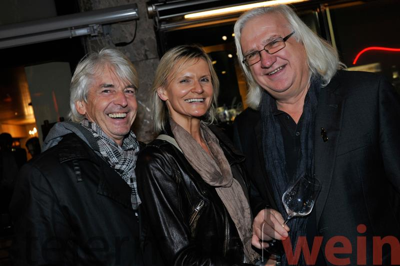 Reinhard Sudy, Hedi Grager und Henry Sams bei der Leibnitzer Big Bottle Party 2012 (Foto apresvino.at)