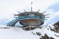 """Auf über 3.000 Metern bot die 360°-Panoramabar """"Top Mountain Star"""" eine imposante Kulissefür die Rebekka Ruetz Fashion Show (Foto Getty Images)"""