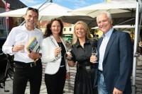 Christian Jungwirth, Veronique Vial, Beatrix Drenning und Bgm. Helmut Leitenberger (Foto Cafe Elefant)