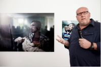 Der italienische Phtograph Marco Longari im Grazer Atelier Jungwirth (Foto Christian Jungwirth)