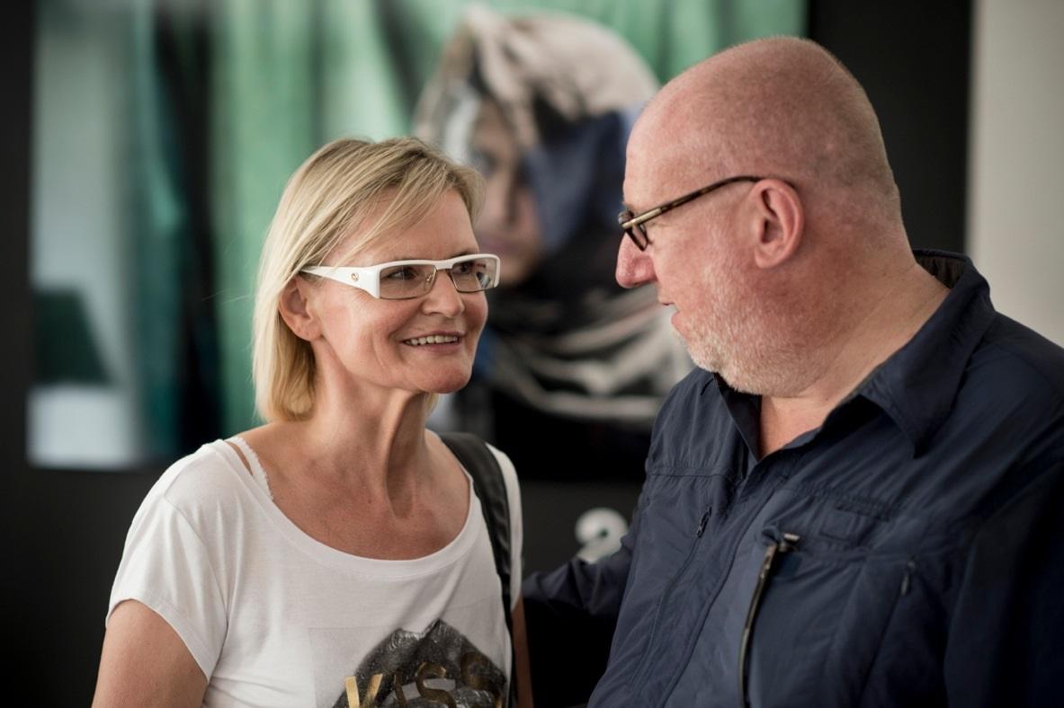 Hedi Grager im Gespräch mit Marco Longari (Foto Christian Jungwirth)