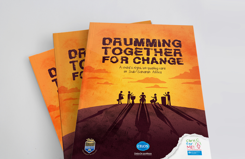 Through a partnership between the University of Malawi, CELCIS at the University of Strathclyde (UK) and SOS Children´s Villages, we created 'Drumming together for change', a 136-page report based on evidence gathered through national assessments of eight Sub-Saharan Africa countries.