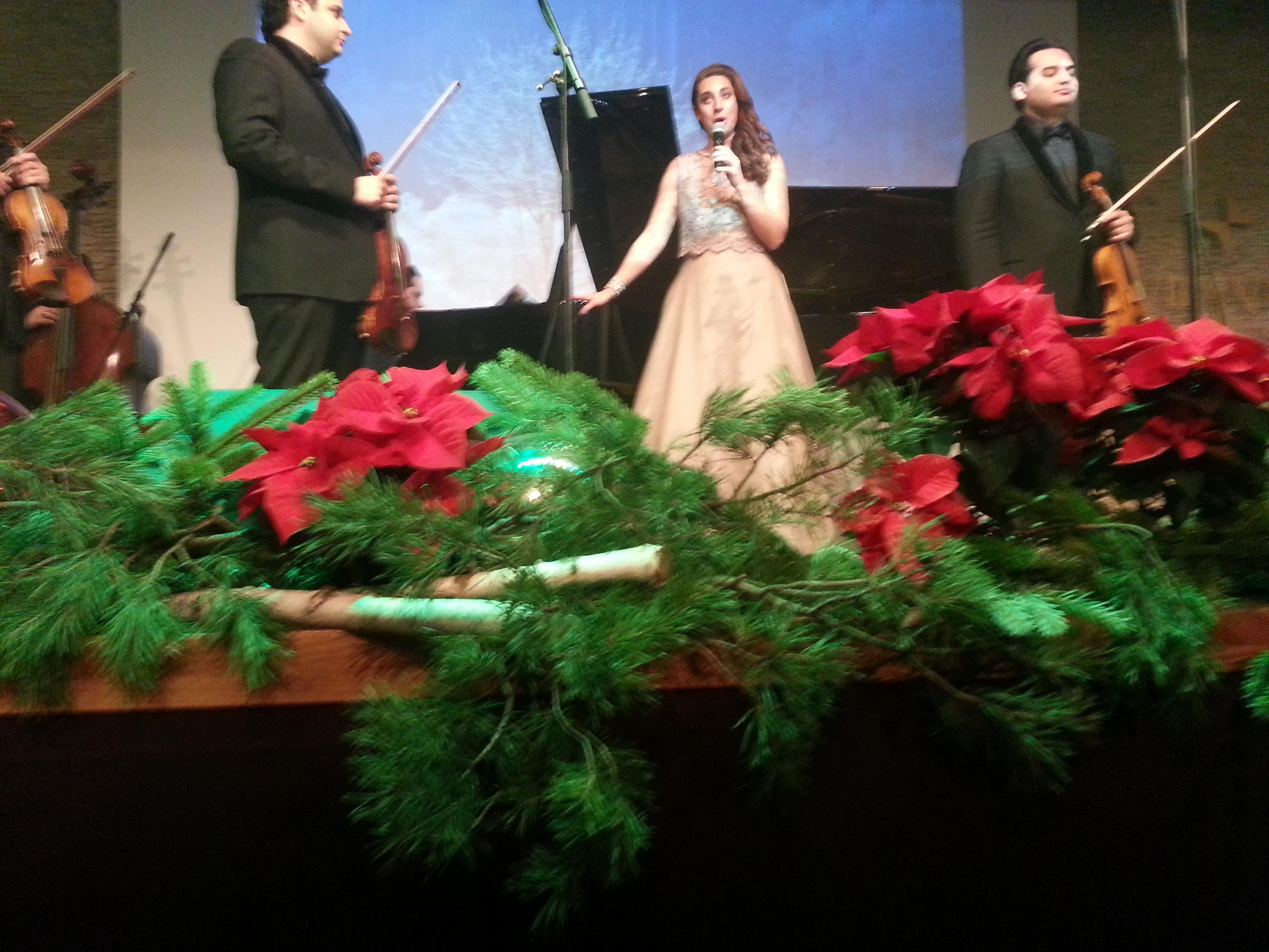 "Bei ""Licht ins Dunkel"" in Wien sang Solmaaz Adeli u.a. White Christmas"