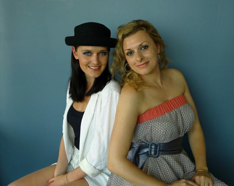Die Designerin Eva Poleschinski mit ihrer Store-Leiterin Nadine Marie Wohlmuth