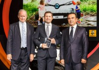 Jerome Stoll, CPO Renault SA,  Mag. Gerald Auer, VOGL+CO sowie Carlos Ghosn, CEO Renault-Nissan