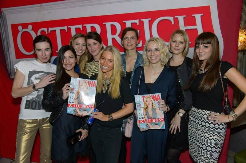 Madonna-Herausgeberin Jenny Fellner inmitten ihres erfolgreichen Teams.