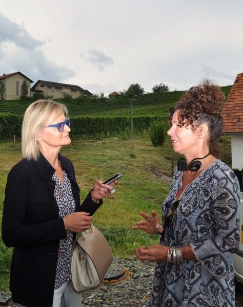 """Regisseurin Franziska Buch im Gespräch mit Hedi Grager: """"Als ich das Drehbuch las, habe ich sehr schnell Feuer gefangen"""". (Foto Reinhard Sudy)"""