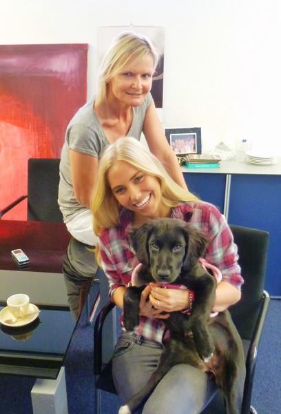 Bei meinem Besuch durfte ich auch Jenny's neue Liebe kennen lernen: Mia