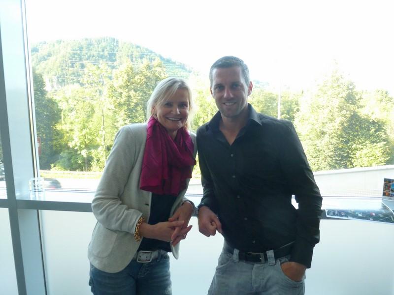 Hedi Grager traf Mark Prettenthaler im Grazer Shopping Center Nord (Foto Sylvia Baumhackl)