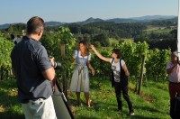Antonios Larentzakis und Melissa Leitinger beim Shooting von Sandra Thier (Foto Reinhard Sudy)