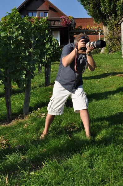 Wunderbares Wetter beim Shooting am Weingut Muster in Gamlitz (Foto Reinhard Sudy)