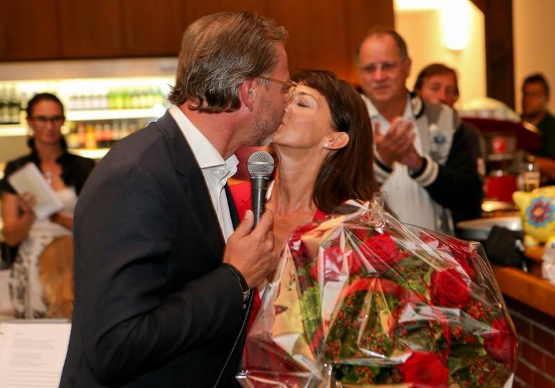 Michael Stöckl bedankt sich für die großartige Hilfe seiner Frau Tina Bauer