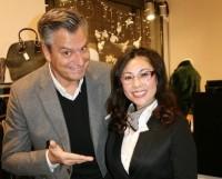 Moderator Dorian Steidl und Goia-Chefin Xu Xiaoqin (Foto Christina Dow)
