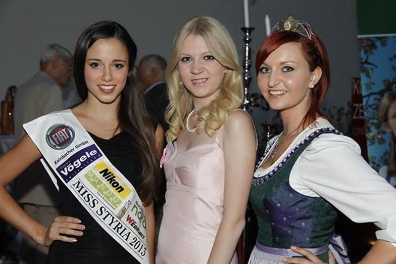 Pink Ribbon Gala 2013: Christiane Baldauf mit Miss Styria 2013 Sarah Oberhauser (Foto Guido Lienhart).