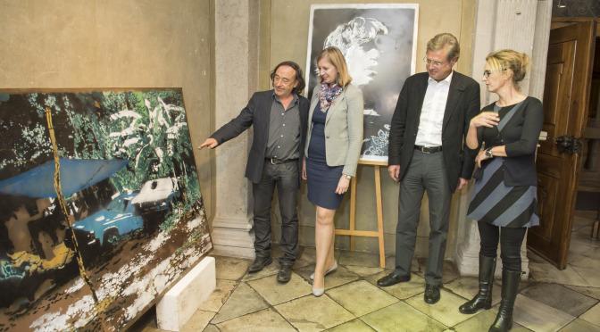 VP Ausstellungseröffnung Metal Spray Art von Wolfgang Uranitsch