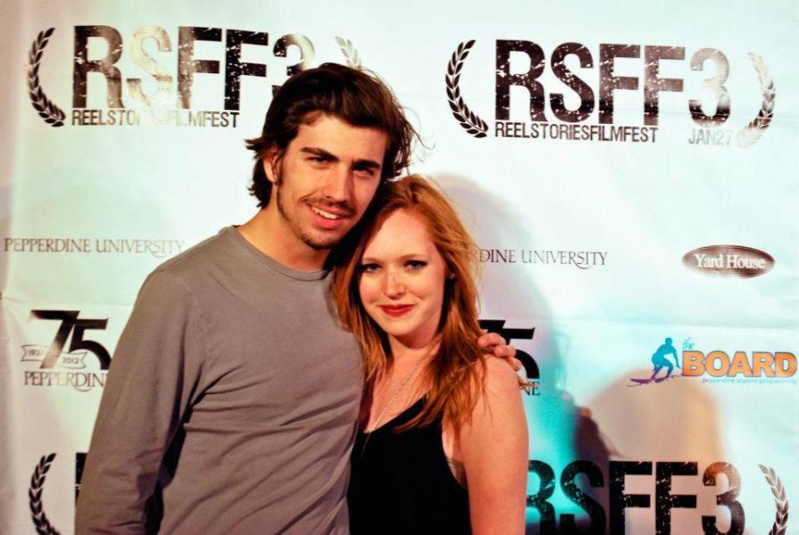 """Swen Temmel mit Kate Pauley. Er drehte mit ihr das Musikvideo zum Song """"Where to Start"""", das beim Reel Stories Film Festival 2012 präsentiert wurde."""