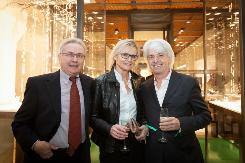 Albert Schullin, Hedi Grager und Reinhard Sudy bei der Eröffnung der 1. Rolex Boutique in der Steiermark (Foto GEOPHO by Jorj Konstantinov)