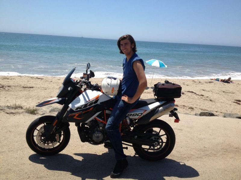 Swen Temmel liebt Motorrad fahren an den Stränden von Los Angeles. Dabei kann er sich wunderbar entspannen.
