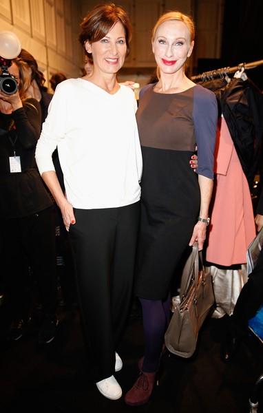 Designerin Eva Lutz mit Schauspielerin Andrea Sawatzki (Fotos Getty Images/Franziska Krug)