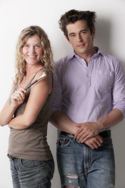 Monika Cetin mit Topmodel Werner Schreyer (Foto Inge Prader).