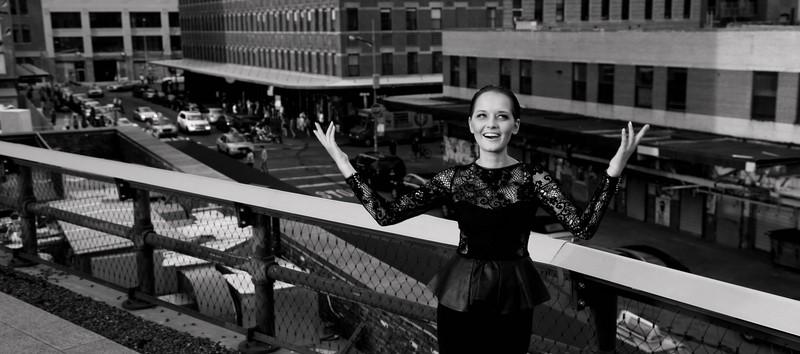 Nadines erster photoshoot mit Designerin Eva Poleschinski in NYC. Das Photo wurde im Jänner 2013 in der Vogue UK veröffentlicht (Foto Nadine Marie Wohlmuth)