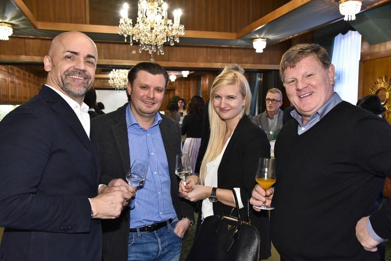 Gastro-Größen Michael Schunko, Christof Widakovich, Herti Grossauer und Hubert Pferzinger (Foto Werner Krug)