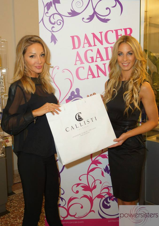 Yvonne Rueff, hier mit CALLISTI – Designerin Martina Müller, die Dancer against Cancer auch immer wieder gerne unterstützt (Foto POWERSISTERS)