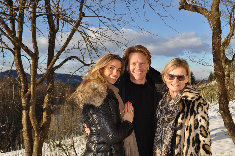 Es ist ein wunderschöner Nachmittag, als ich Constanze und Mike Kraus in der Südsteiermark treffe (Foto Reinhard Sudy)