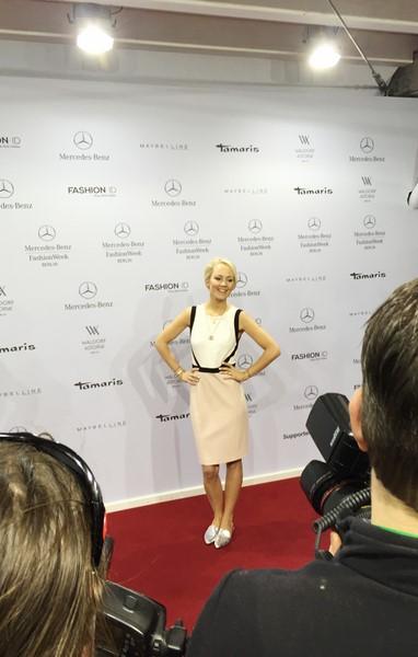 Kathrin Gelinsky - ein gern gesehener Gast auf den großen Shows der Berliner Mercedes Benz Fashion Week (Foto www.wunschfrei.com)