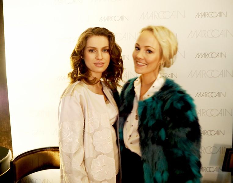 Kathrin Gelinsky traf auf der Mercedes Benz Fashion Week auch Tali Lennox, die Tochter von Annie Lennox (Foto www.wunschfrei.com)