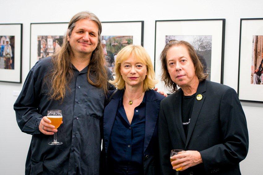 Christine Moser, hier mit dem Tiroler Trompetist Franz Hackl (links im Bild) (Foto ACFNY)