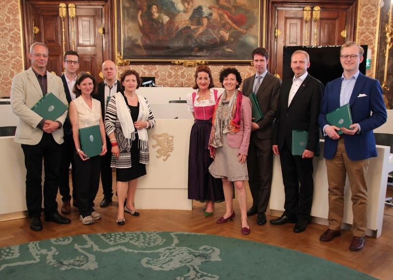Besuch von Mag. Barbara Gasser und MMag. Stefan Pretterhofer im Landesparlament (Foto Landtag Steiermark/Hackl)