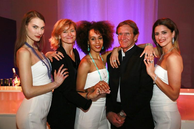 Anne Marie und Hans Schullin mit ihren Models, die die neue Kollektion präsentierten (Foto Schullin)