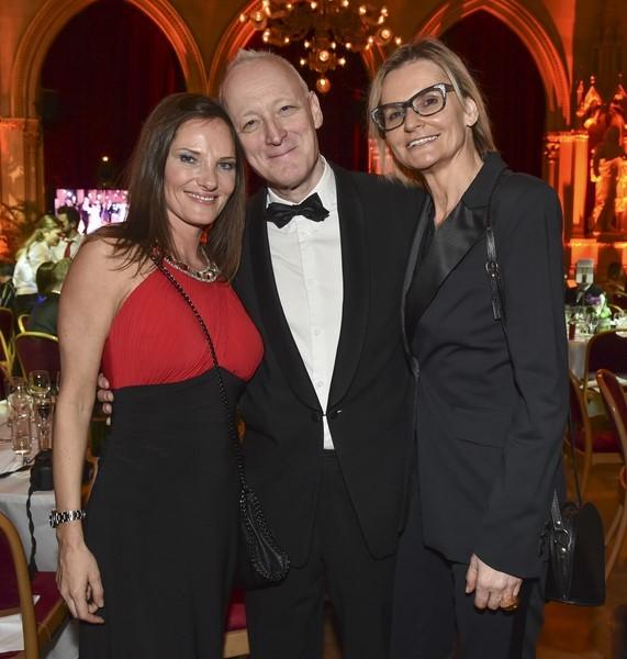 Daniela Matschnig, Gary Howard und Hedi Grager am Filmball Vienna 2015 (Foto Harald Klatt)