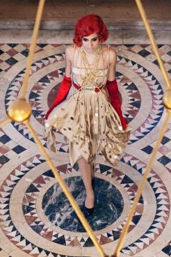 Designerin Eva Poleschinski kleidete die CAMPARI DAMEN für den Lifeball 2015 ein ('Aperitivo' - Foto Philipp Enders)