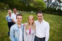 Sabine und Günther Dunkler mit den Kindern Sebastian, Nadja und Patritz (Foto Barbara Nidetzky)