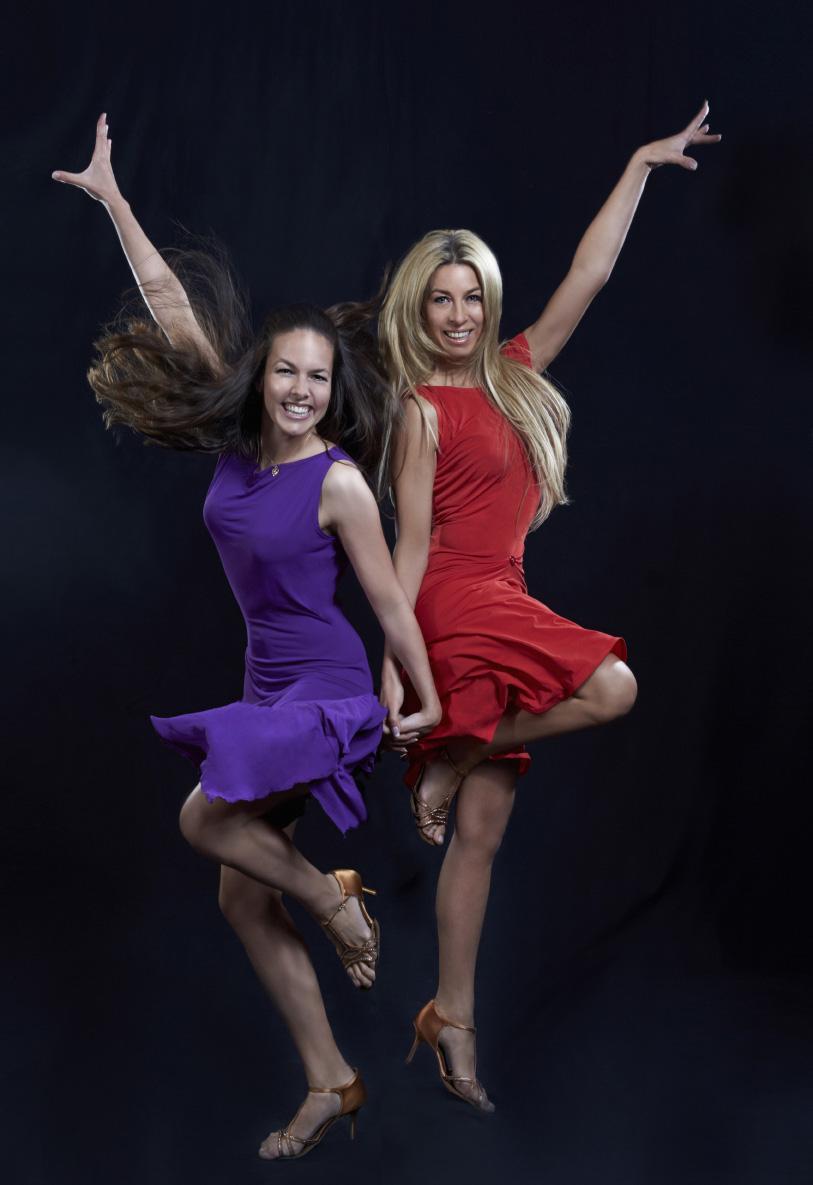 Tanz ist für Roswitha Wieland und Yvonne Rueff tiefe Freude und Leidenschaft, einfach der Drang nach Bewegung, kombiniert mit Schönheit, Inspiration und Anmut (Foto Josef Gallauer)