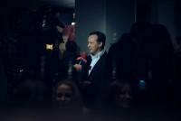 Gerald Schwarz bei der Eröffnungsrede (Foto Joel Kernasenko)