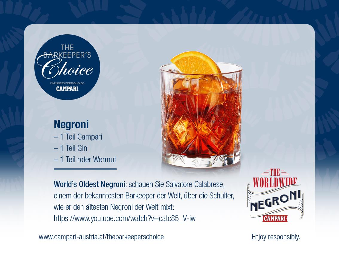 Negroni Cocktail of June