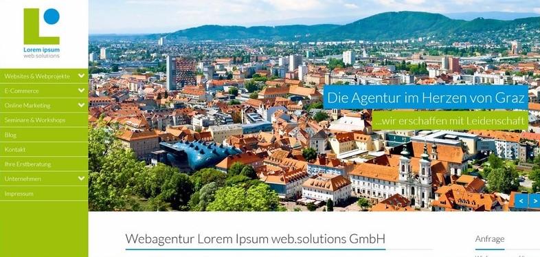 Screenshot www.loremipsum.at