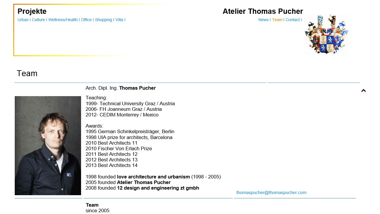 Screenshot www.thomaspucher.com