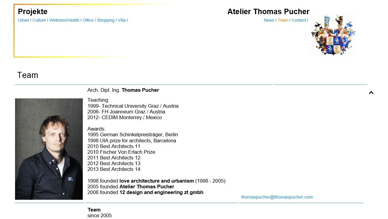 Screenshot www.thomaspucher.com