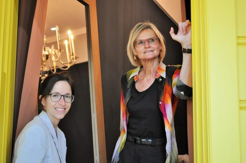 Karin Polzhofer und Hedi Grager im NWW Flagshipstore in Wien (Foto Reinhard Sudy)