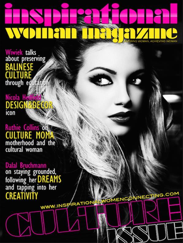 "Dalal Bruchmann am Cover von ""inspirational woman magazine"" (Foto Hamid Moslehi)"