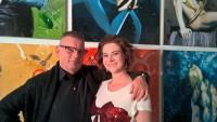 Der Künstler Werner Stadler mit seiner Kerstin (Foto Reinhard Sudy)